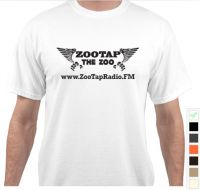 White ZooTapRadio Tee Shirt Large